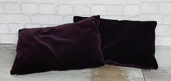 Coussin prune rectangle
